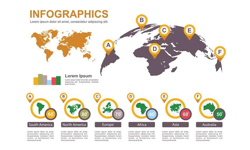 Dünya xəritəsi infoqrafik