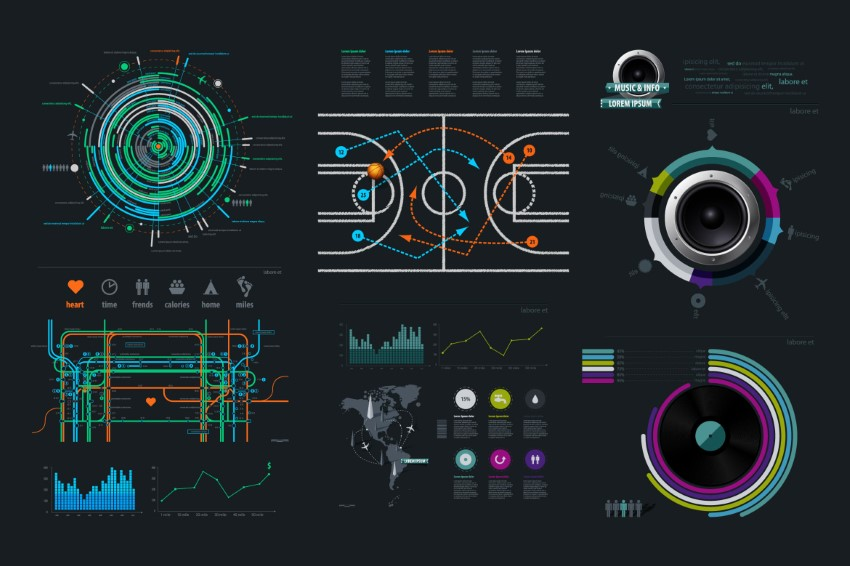 Thumper infoqrafik şablon