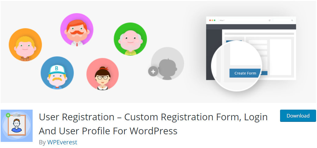 Complemento de registro de usuario