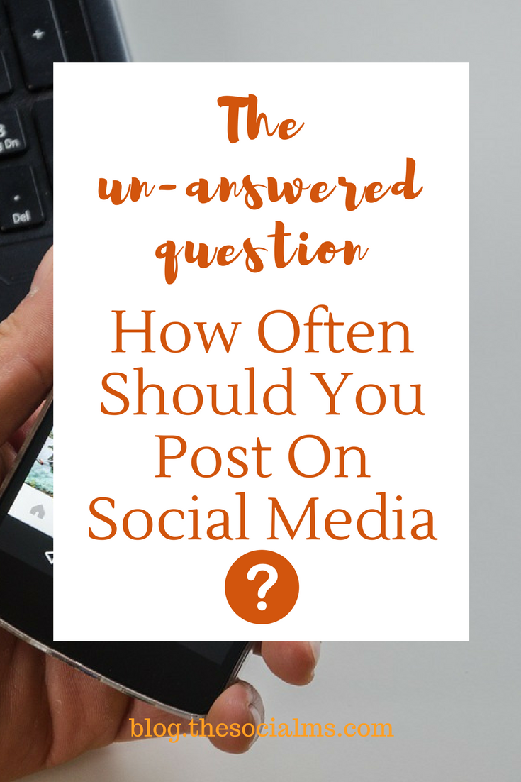 No hay una respuesta general a la pregunta con qué frecuencia publicar en las redes sociales, lo que es correcto para una persona puede ser totalmente incorrecto para otra. consejos sobre redes sociales, cómo usar las redes sociales