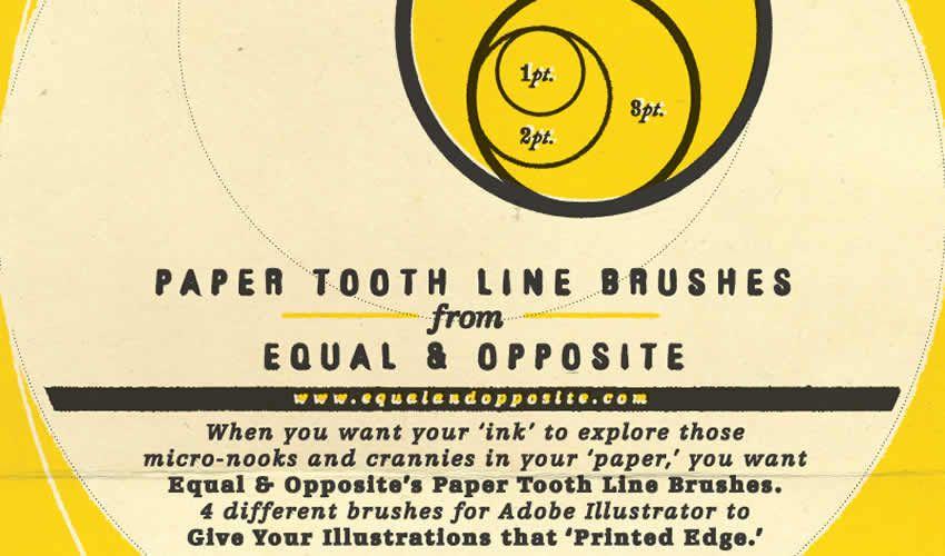 Kağız Diş Xətti adobe illüstrator fırçaları abr paketi pulsuz
