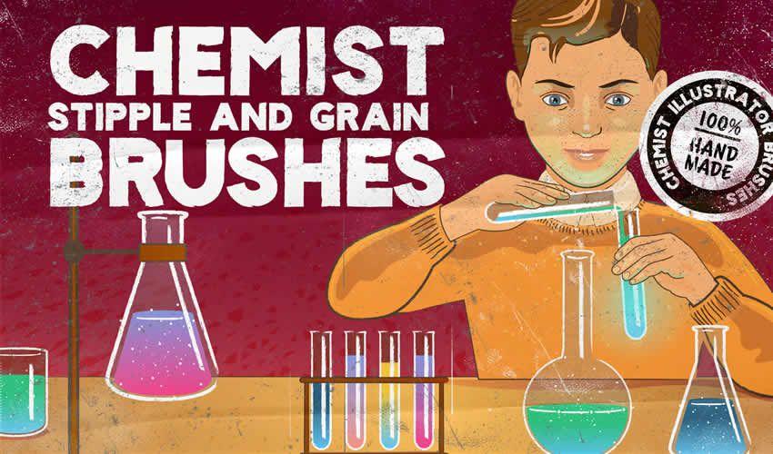 Kimyaçı Stipple Taxıl adobe illüstrator fırçaları abr paketi pulsuz