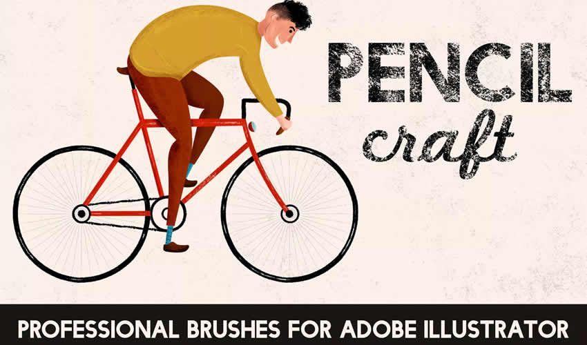 Pencilcraft adobe illüstrator fırçaları abr paketi pulsuz