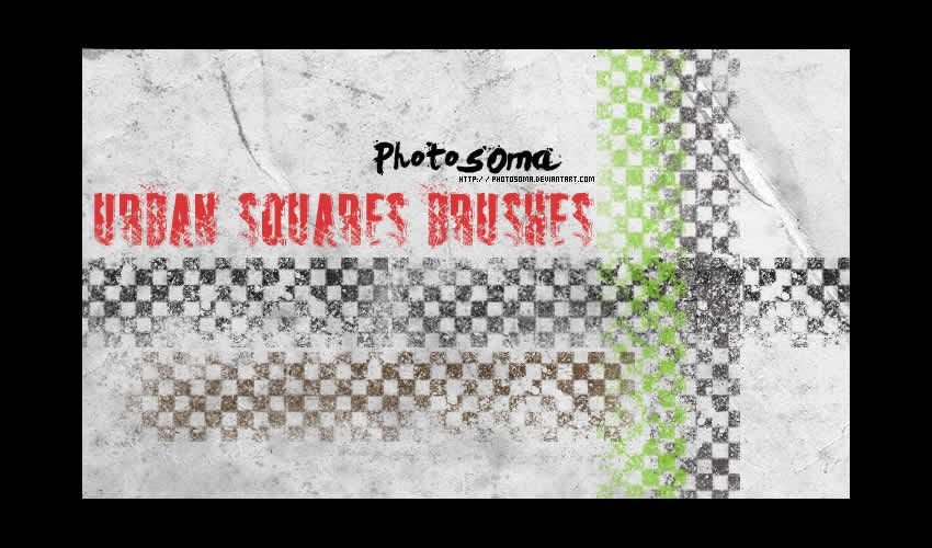 Urban Squares adobe illüstrator fırçaları abr paketi pulsuz