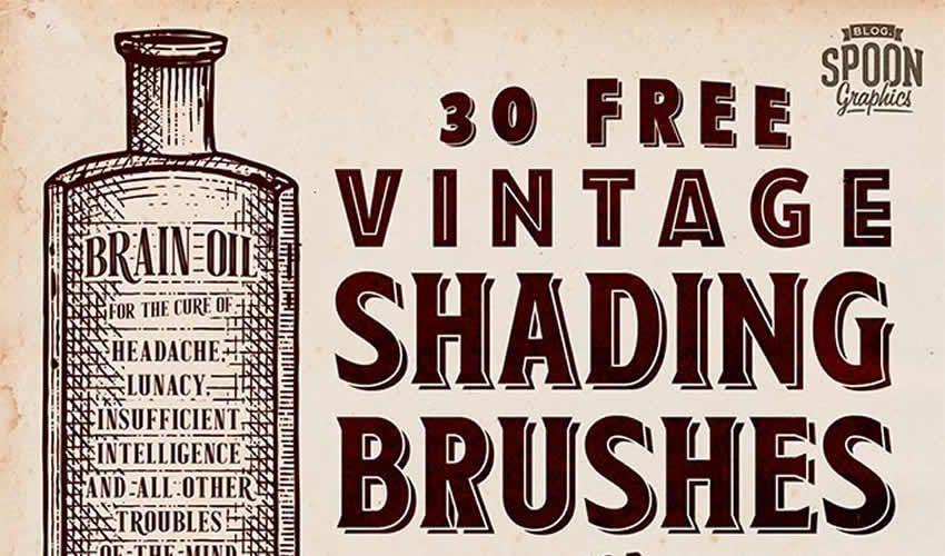 Vintage Shading adobe illüstrator fırçaları abr pulsuz paket