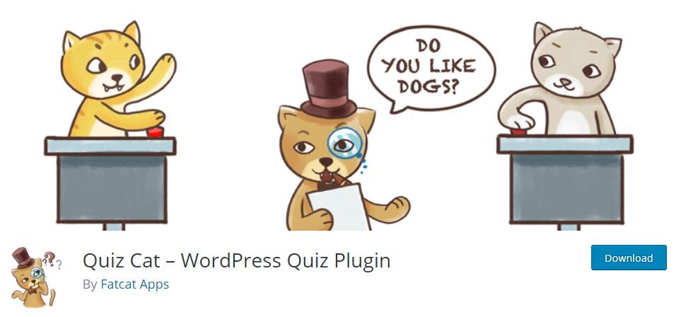Quiz Cat - WordPress-Quiz-Plugin - Komplementos von WordPress