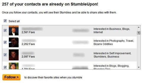 StumbleUpon'daki İletişim