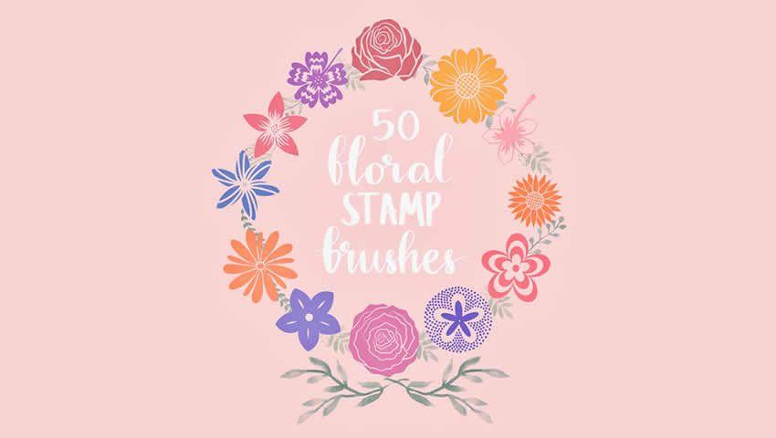 Pulsuz Floral Stamp Procreation Fırçaları