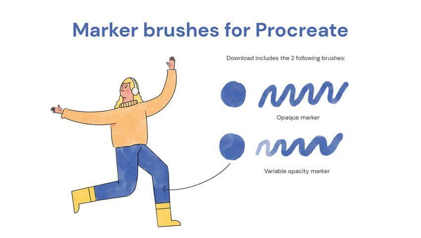 Yetişdirmə üçün marker fırçaları