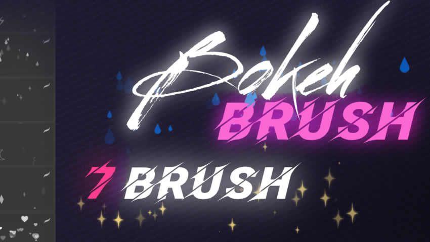 Anime Bokeh Procreate fırçaları
