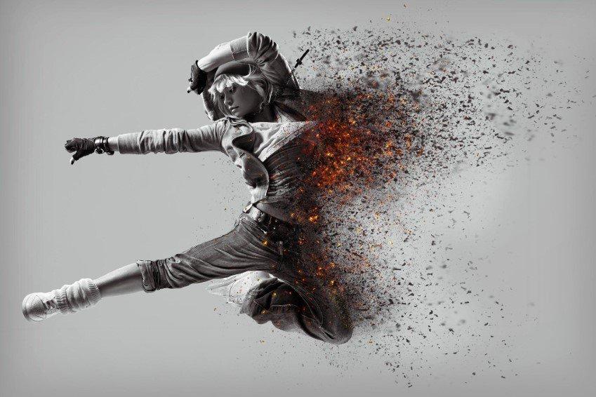 Tro tàn và than hồng Hành động Photoshop