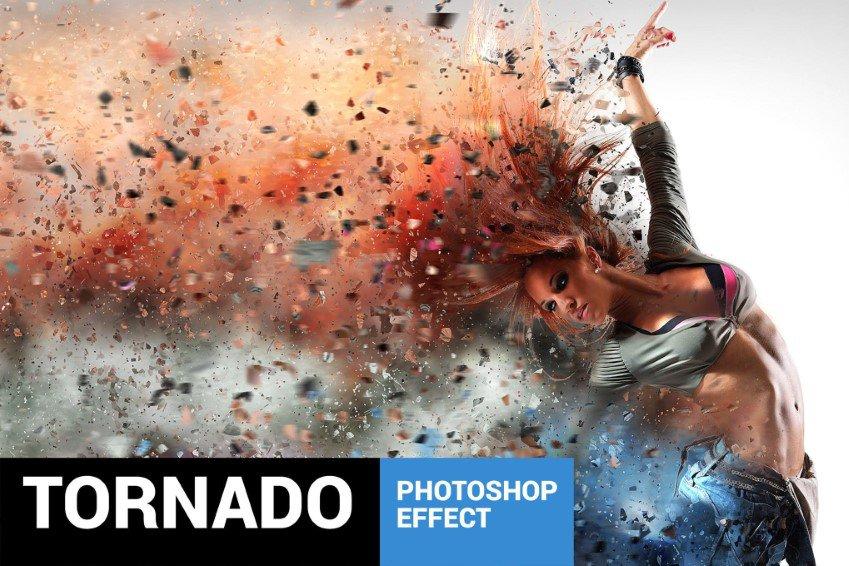 Hành động phân tán Tornadum Photoshop