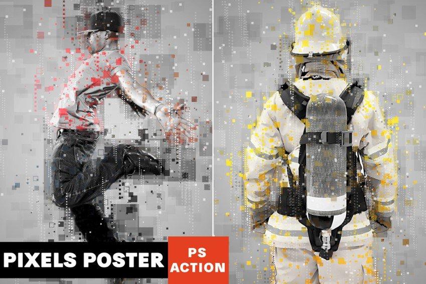 Pixel Poster Photoshop Hành động