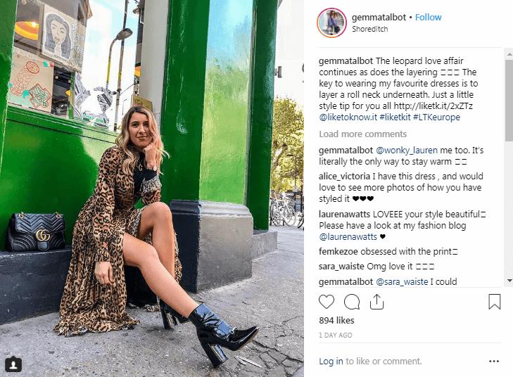 Gemma Talbot Instagram Influencers de la moda