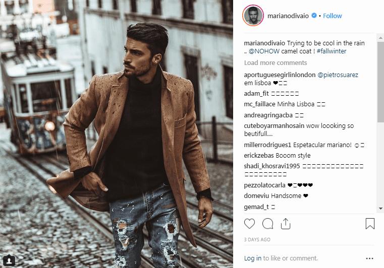Influenciadores de la moda de Instagram de Mariano Di Vaio