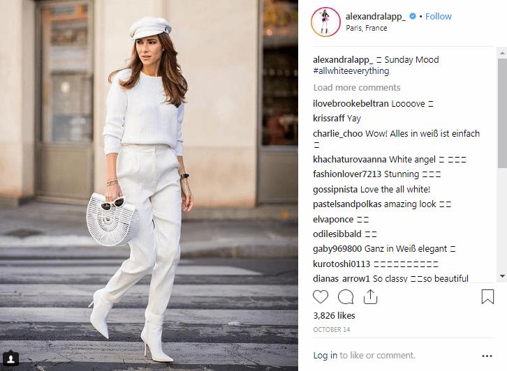 Influenciadoras de la moda de Instagram de Alexandra Lapp