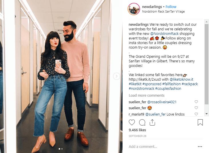 Robert y Christina2 influyentes de la moda de Instagram