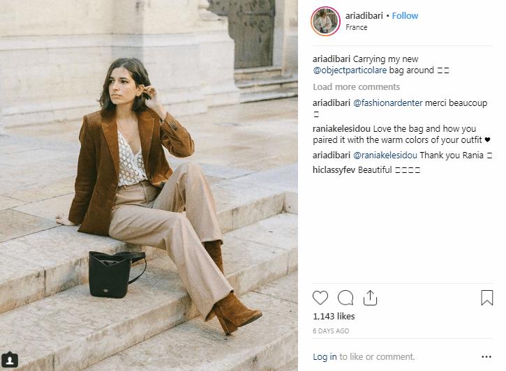 Influenciadores de la moda de Instagram Aria Di Bari