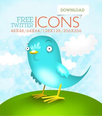 Hermoso Twitter Iconos de aves