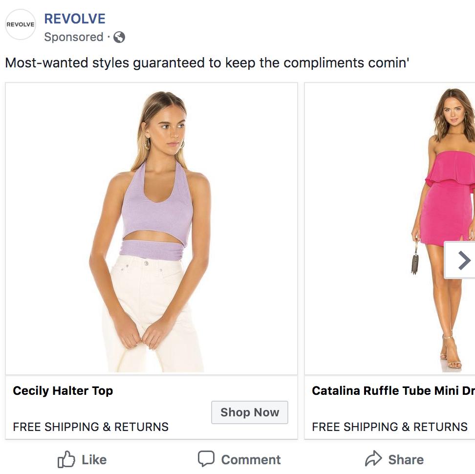 ejemplo de marketing de contenido de anuncios pagados
