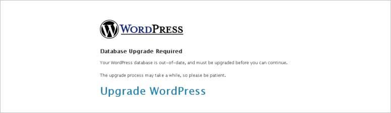 Actualización de la base de datos de WordPress