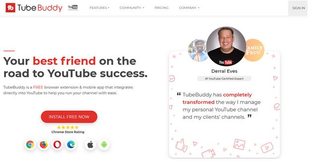 Herramientas de marketing de YouTube TubeBuddy