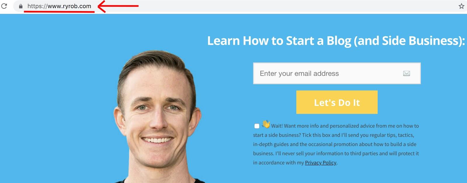 WordPress Powered Blog Ryan Robinson ryrob Captura de pantalla de la página de inicio
