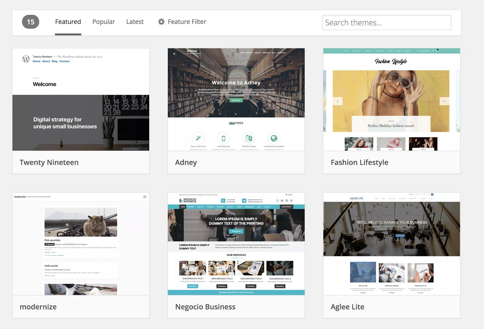 ¿Qué son los temas de WordPress? Ejemplos de temas en WordPress
