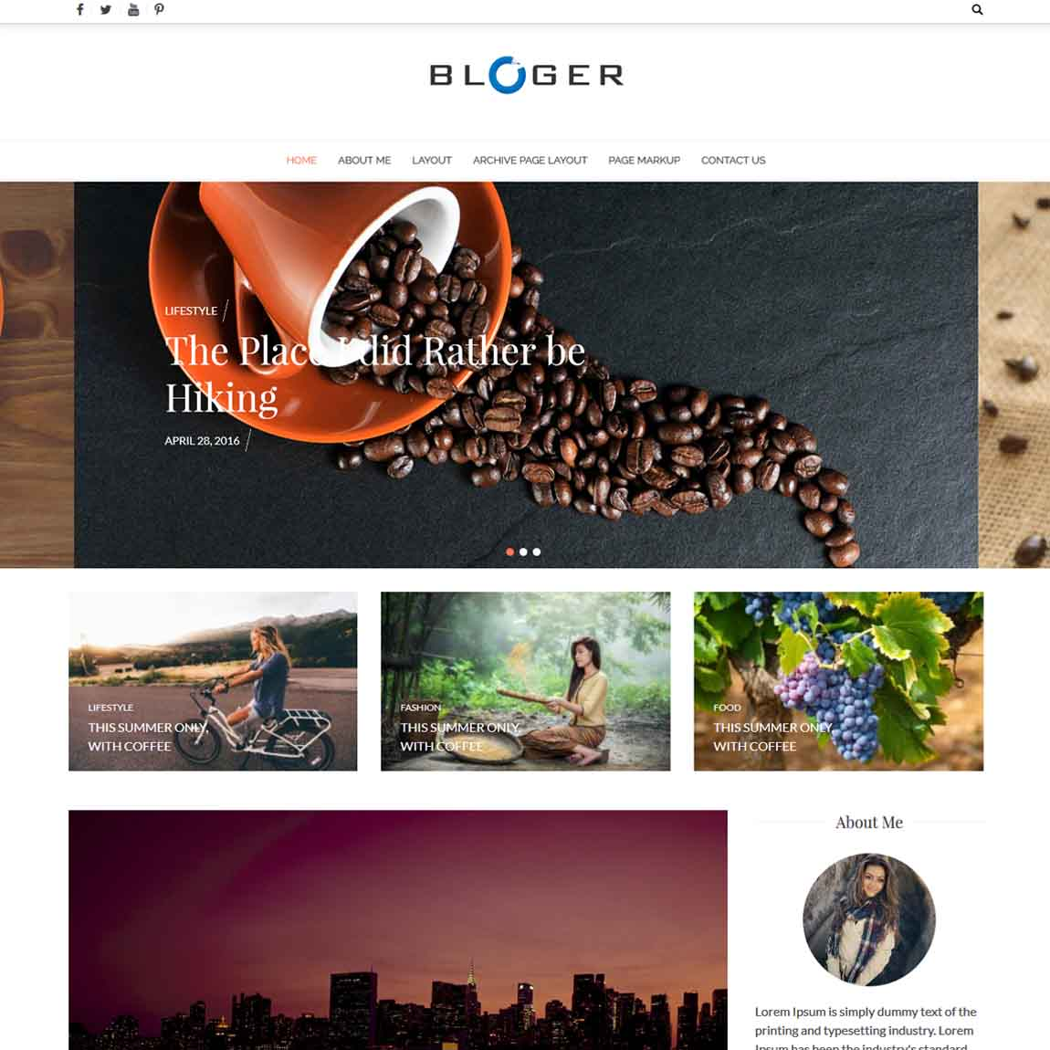 bloger-wordpress-minimal-themes