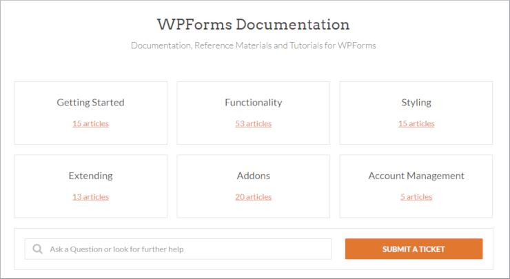 """wpforms-support """"width ="""" 740 """"height ="""" 405 """"class ="""" alignnone size-full wp-image-225836 """"srcset ="""" https://www.isitwp.com/wp-content/uploads/2018/12/ wpforms-support.png 740w, https://www.isitwp.com/wp-content/uploads/2018/12/wpforms-support-300x164.png 300w """"tamaños ="""" (ancho máximo: 740px) 100vw, 740px """" ></p> <p>También puede leer su extensa documentación organizada en categorías como Primeros pasos, Funcionalidad, Estilo, Complementos y más. Finalmente, también puede consultar el blog de WPForms donde encontrará tutoriales y procedimientos que incluyen capturas de pantalla y videos para ayudarlo cada vez que se encuentre con un problema.</p> <h3>Soporte: SurveyMonkey</h3> <p>SurveyMonkey ofrece soporte al cliente por correo electrónico las 24 horas, los 7 días de la semana, pero para obtener soporte por correo electrónico prioritario, debe actualizar a un plan más costoso. Actualiza su plan si también desea obtener acceso a asistencia telefónica. </p> <p><img src="""