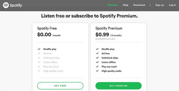 captura de pantalla de spotify