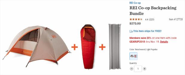 paquete de productos rei