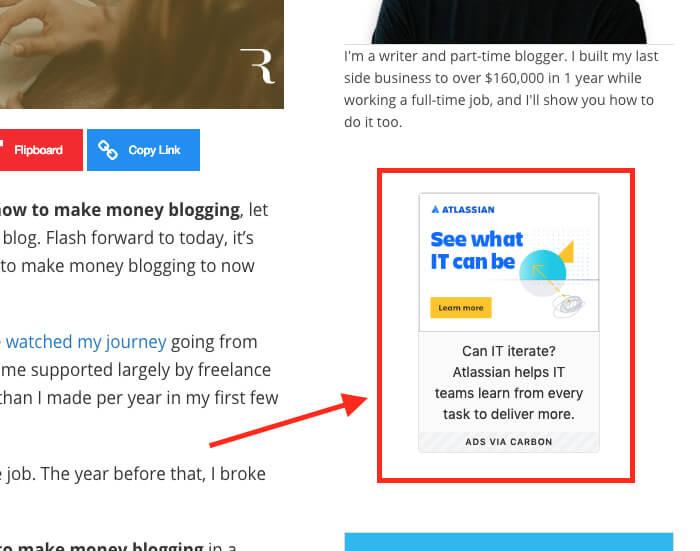 Ganar dinero en anuncios de blogs