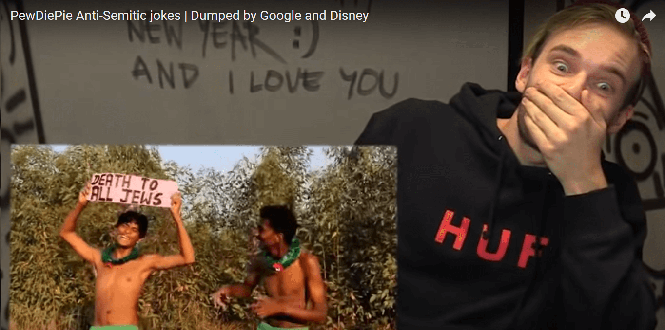 El marketing sueco de YouTuber PewDiePie Influencer falla