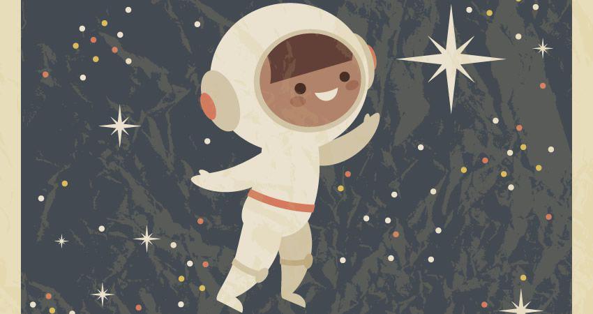 Cómo crear un póster retro con un astronauta Tutorial de adobe Child Illustrator