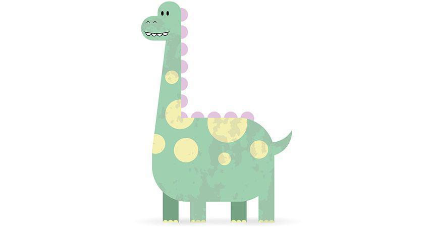 Cómo crear un lindo personaje de dinosaurio adobe illustrator tutorial