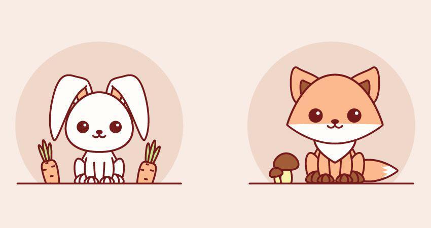Cómo crear un tutorial sencillo de adobe Kawaii Animals adobe