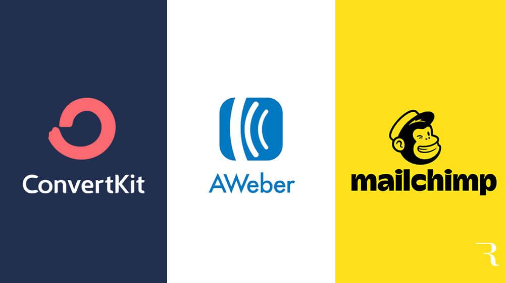 ConvertKit vs AWeber vs Mailchimp La mejor herramienta de marketing por correo electrónico para bloggers por Ryan Robinson en ryrob