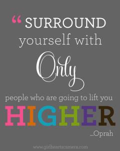 Oprah, rodéate solo - Sé feliz