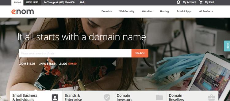 """enom-best-domain-name-resgitration-company """"width ="""" 750 """"height ="""" 330 """"srcset ="""" https://themegrill.com/blog/wp-content/uploads/2017/08/enom-best-domain -name-resgitration-company.jpg 750w, https://themegrill.com/blog/wp-content/uploads/2017/08/enom-best-domain-name-resgitration-company-300x132.jpg 300w """"tamaños ="""" (ancho máximo: 750px) 100vw, 750px """"></p> <p>Enom es uno de los principales registradores de nombres de dominio que proporciona dominios de primer nivel (TLD) y nuevas extensiones de dominio. <strong>Segundo</strong> registrador de dominio superior después de Godaddy, Enom tiene más de 20 millones de dominios bajo administración en todo el mundo. Ofrece integración con otros servicios de Internet y sitios web, incluidos G Suite, Website Builder, certificados SSL, etc.</p> <p>Enom es un registrador de dominios acreditado por ICANN que proporciona dominios para pequeñas empresas, individuos, marcas y empresas. También proporciona una gran plataforma para inversores y revendedores de dominios.</p> </p> <h4>Principales aspectos destacados de los dominios de Enom:</h4> <h4>Precios de Enom para TLD populares (primer año y renovación)</h4> <table class="""
