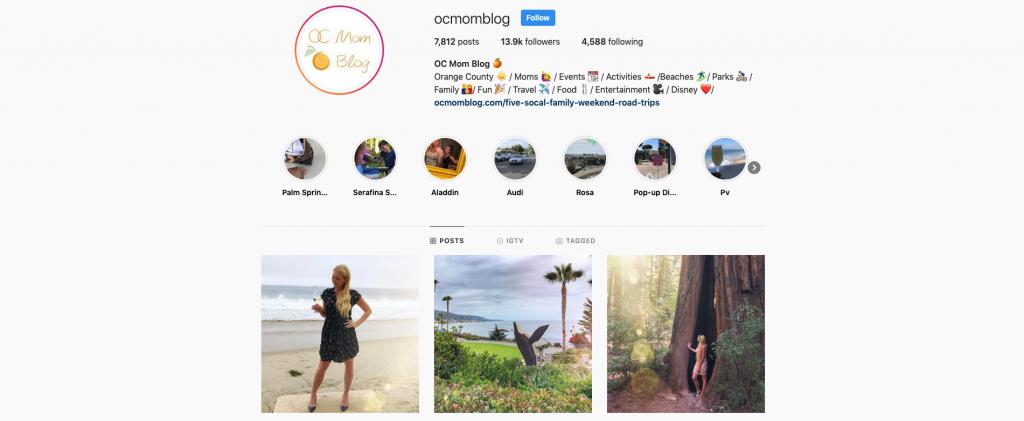 OC Mom Blog Instagram Feed
