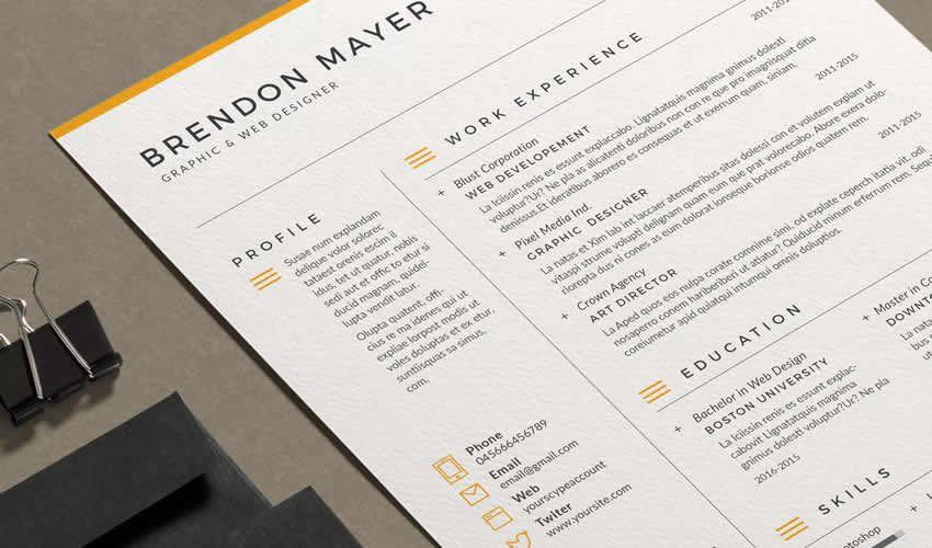 Tiếp tục sơ yếu lý lịch Adobe Indesign Mall Brendon Cover Letter