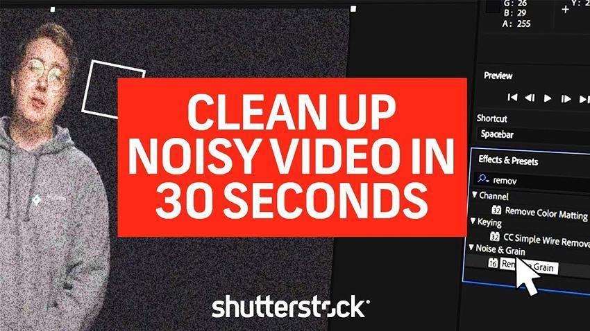 Cómo limpiar videos ruidosos en Premiere Pro