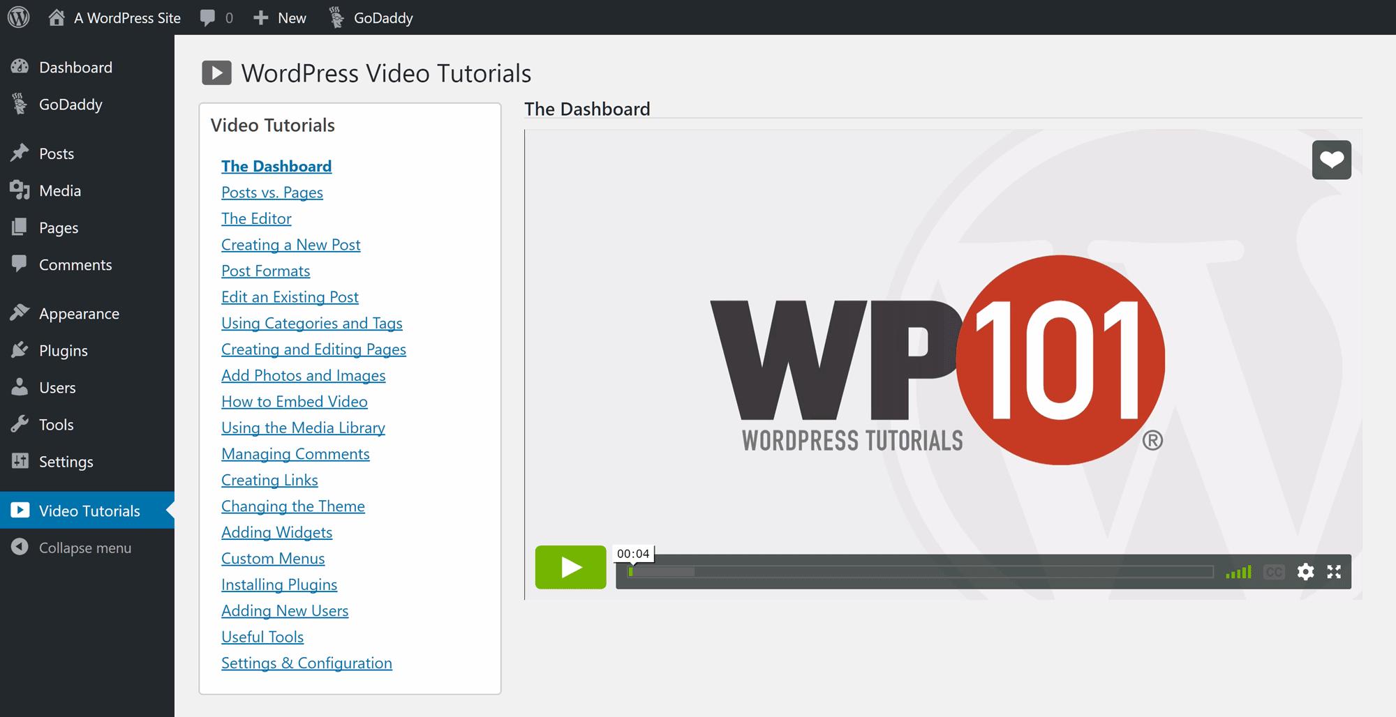 WP101 Videos instructivos