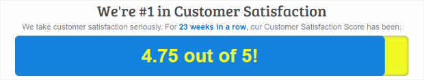 puntaje de satisfacción del cliente mediante botones