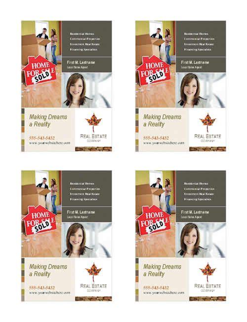 Šablóna so štyrmi stranami pre brožúry o nehnuteľnostiach