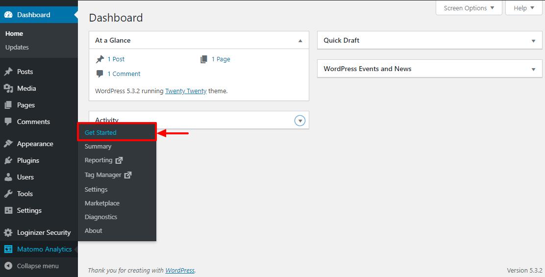 Doplnok WordPress pre Matomo Analytics