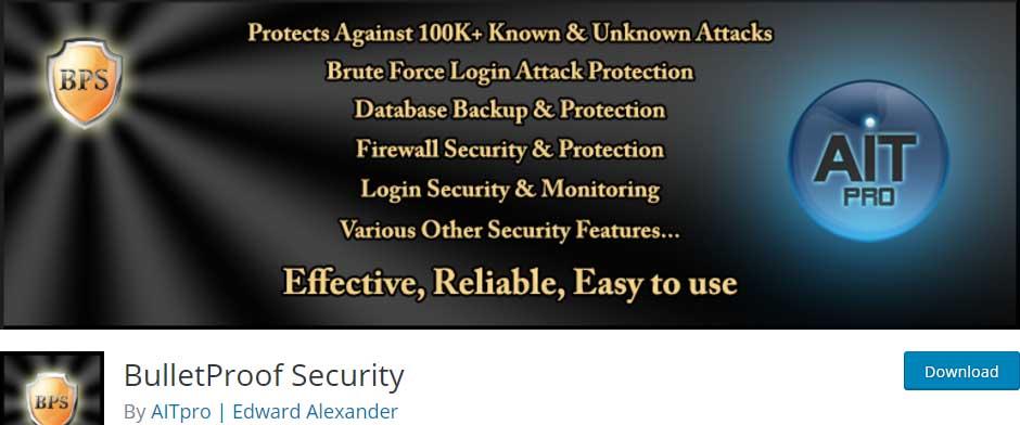 """bulletproof-security-wordpress-plugin """"width ="""" 940 """"height ="""" 392 """"srcset ="""" https://blogging-techies.com/wp-content/uploads/2020/04/1588017189_460_10-mejores-complementos-de-seguridad-de-WordPress-para-asegurar-sitios.jpg 940w, https://themegrill.com/blog/wp-content/uploads/2017/06/bulletproof-security-wordpress-plugin-300x125.jpg 300w, https://themegrill.com/blog/wp-content/uploads /2017/06/bulletproof-security-wordpress-plugin-768x320.jpg 768w, https://themegrill.com/blog/wp-content/uploads/2017/06/bulletproof-security-wordpress-plugin-720x300.jpg 720w """"tamaños ="""" (ancho máximo: 940 px) 100vw, 940 px """"></p> <p><strong>Seguridad a prueba de balas</strong> para los sitios web de WordPress afirma brindar protección contra más de 100,000 ataques. Este complemento de seguridad está cargado con numerosas funciones para proporcionar un entorno seguro para operaciones efectivas del sitio web. AITpro, los desarrolladores del complemento Bulletproof Security, también proporciona tutoriales en video. Por lo tanto, los usuarios de WordPress pueden comprender las funcionalidades del complemento viendo estos videos.</p><div class='code-block code-block-5' style='margin: 8px auto; text-align: center; display: block; clear: both;'> <div data-ad="""