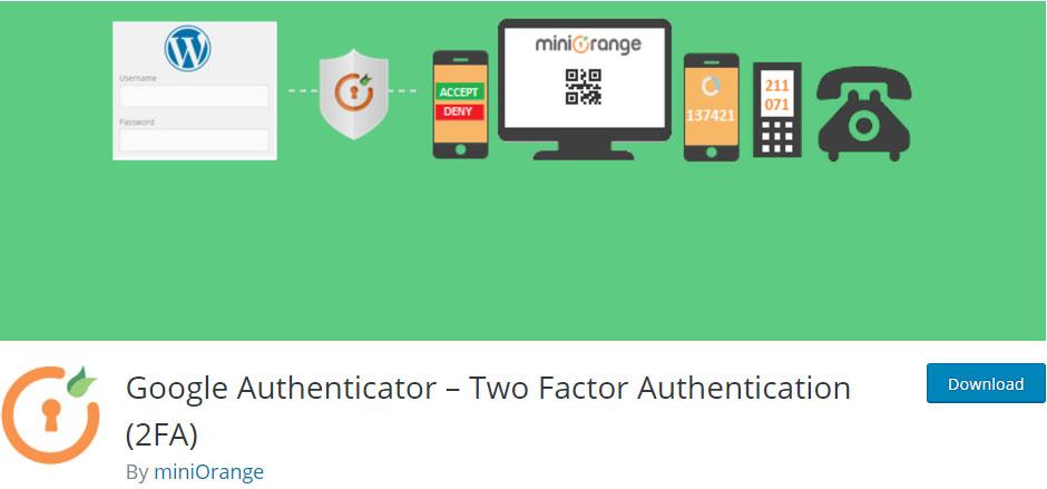Dos pasos-Google-authenticator-wordpress -security-plugin