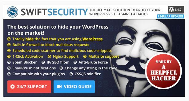 """swift-security-bundle-premium-wordpress-plugin-security """"width ="""" 614 """"height ="""" 329 """"srcset ="""" https://themegrill.com/blog/wp-content/uploads/2017/07/swift-security -bundle-premium-wordpress-plugin-security.jpg 614w, https://themegrill.com/blog/wp-content/uploads/2017/07/swift-security-bundle-premium-wordpress-plugin-security-300x161. jpg 300w """"tamaños ="""" (ancho máximo: 614px) 100vw, 614px """"></p> <p>WordPress siempre está en la lista de éxitos de los hackers. Pero <strong>Seguridad rápida</strong> se mantiene un paso adelante al ocultar los detalles de WordPress. De esta manera, los hackers no pueden reconocer un sitio de WordPress. Elimine todo tipo de problemas de seguridad con Swift Security Bundle.</p> <h3>Características clave</h3> <ul> <li> <strong>Ocultar la función de WordPress</strong> oculta los aspectos vulnerables como URL de inicio de sesión, estructura de archivos, etc.</li> <li> <strong>Filtro IP de inicio de sesión</strong> restringe el inicio de sesión de usuarios malintencionados incluso si se roba la contraseña</li> </ul> <h4>Pros</h4> <ul> <li>La instalación con un clic asegura su sitio de WordPress</li> <li>Un principiante puede configurar fácilmente el complemento sin sumergirse en los tecnicismos</li> </ul> <h4>Contras</h4> <ul> <li>No tiene ninguna característica única que la haga la mejor compra en el nicho de seguridad de WordPress</li> </ul> <h3>Conclusión</h3> <p>Esta es la lista compilada de los mejores complementos de seguridad de WordPress de 2020. Los complementos se han realizado según las características, las opiniones de los usuarios y la cantidad de descargas. Asegure su sitio web de los ataques conocidos y desconocidos utilizando cualquiera de los complementos mencionados anteriormente. Estos complementos son compatibles con casi todos los temas y complementos de WordPress. Además, hay actualizaciones periódicas disponibles para que la seguridad de WordPress no se vea comprometida.</p> <p>También puede ver otras colecciones de c"""